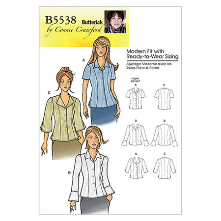 Butterick Misses'/Women's Blouse Pattern B5538 Size MIS
