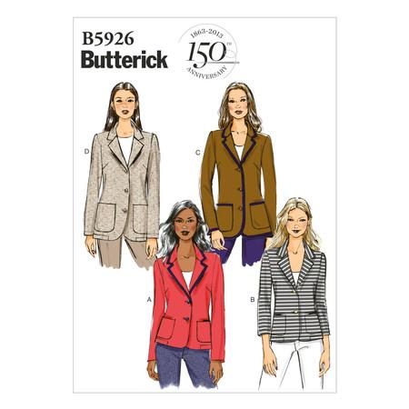 Butterick Misses' /Misses' Petite Jacket Pattern B5926 Size B50