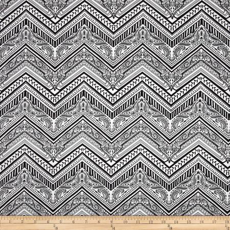 Byzantium Zig Zag Black Fabric