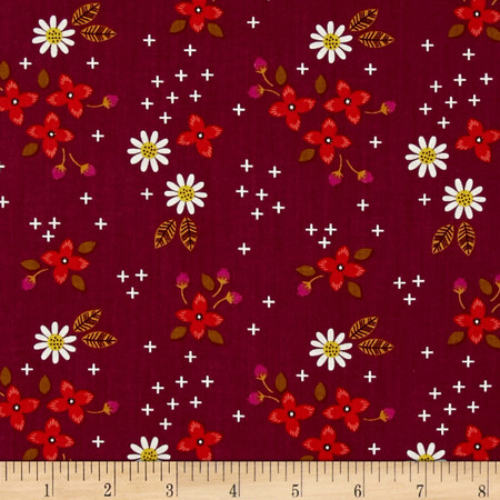 Camelot Enchanted Meadow Plum Fabric By The Yard