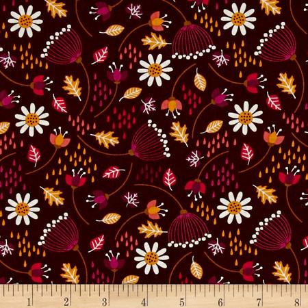 Camelot Enchanted Seed Pods Bordeaux Fabric By The Yard