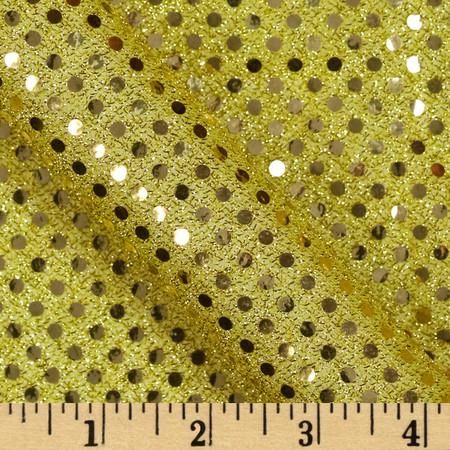 Cha Cha Metallic Sequin Knit Gold Fabric