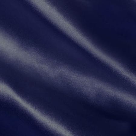 Silky Satin Charmeuse Navy Blue Fabric By The Yard