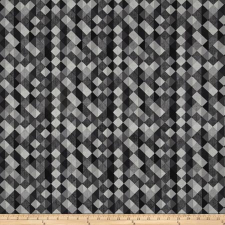 Cherry Pop Diamond & Stripes Dark Gray Fabric By The Yard