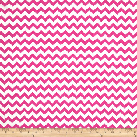 Chevron Fuchsia Fabric By The Yard