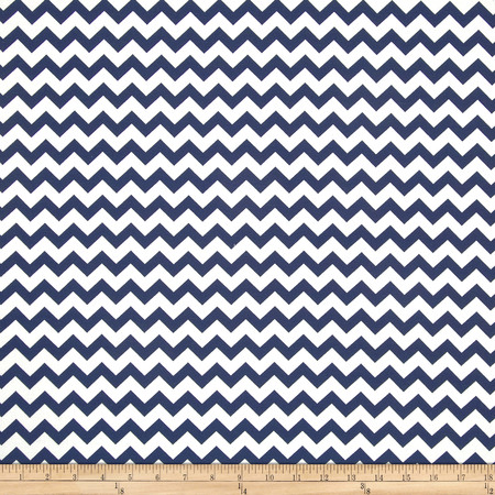 Chevron Navy Fabric By The Yard