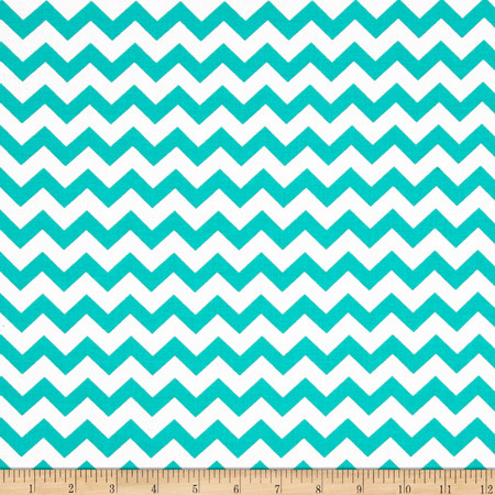 Chevron Turquoise Fabric By The Yard
