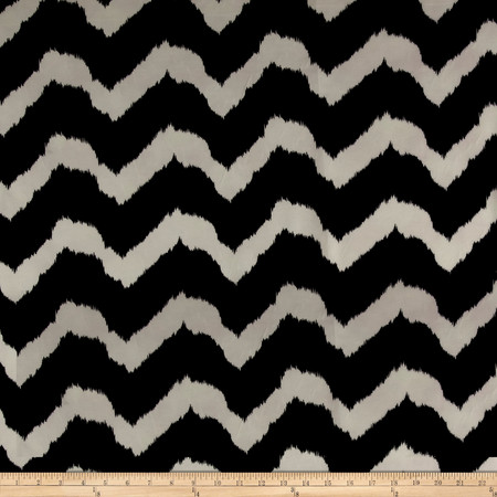 Chiffon Chevron Black/White Fabric By The Yard