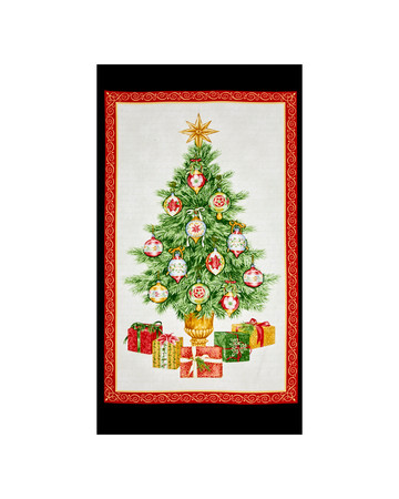 Christmas Elegance 24 In. Panel Cream/Panel Fabric By The Yard