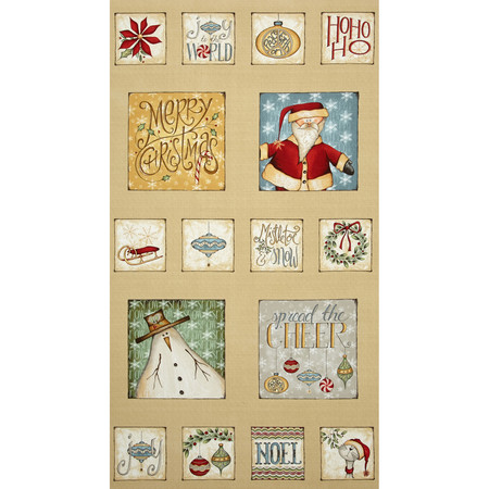 Christmas Whimsy 24 In. Panel Multi Fabric