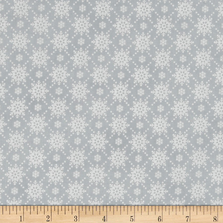 Christmas Wishes Snowfall Mist Fabric By The Yard