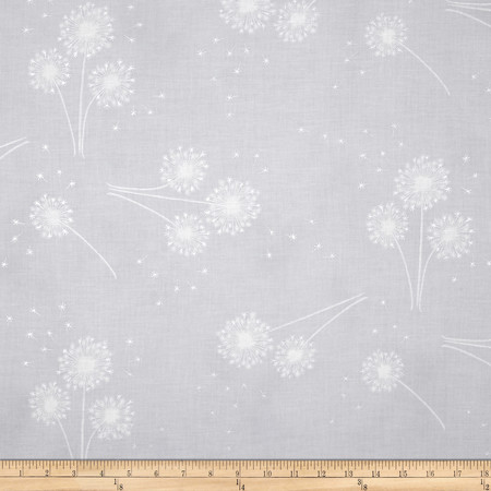 Clarabelle Metallic Dandelion Ice/Silver Fabric