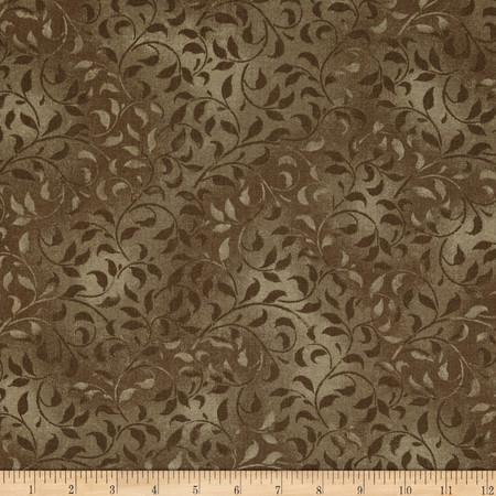 Climbing Vine 108'' Wide Back Medium Brown Fabric By The Yard