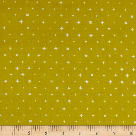 Cloud 9 Orangics We Are All Stars Lime Fabric By The Yard
