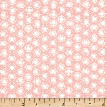 Cloud 9 Organic Aubade Morn's Rays Pink Fabric