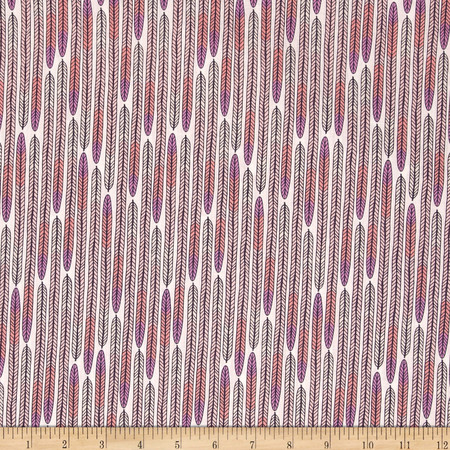 Cloud 9 Organic Biology Feathers Lavender Fabric