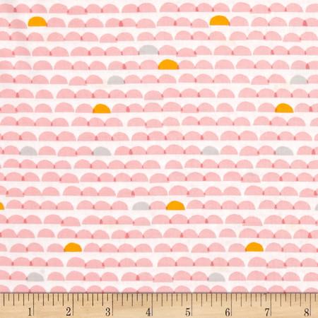 Cloud 9 Organic Glint Dawn Pink Fabric By The Yard