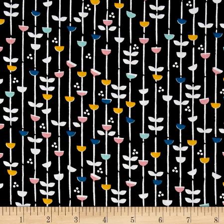 Cloud 9 Organic Glint Lush Black Fabric By The Yard