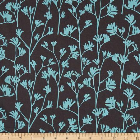 Cloud 9 Organic Landscape Kangaroo Paw Turquoise Fabric By The Yard