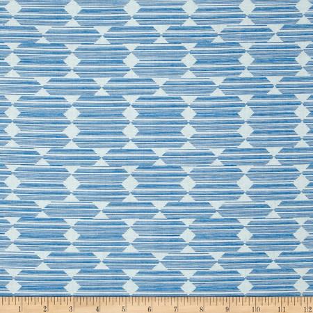 Cloud 9 Organic Lore Anecdote Blue Fabric By The Yard