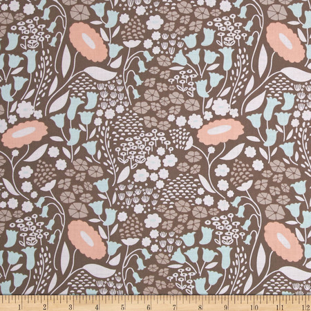 Cloud 9 Organic Morning Song Lush Lullabye Voile Gray Fabric By The Yard