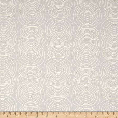 Cloud 9 Organic Rain Walk Ripple Canvas Gray Fabric