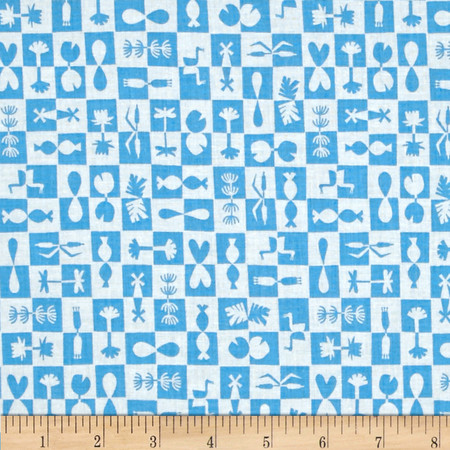 Cloud 9 Organic Water Land Reflection Blue Fabric