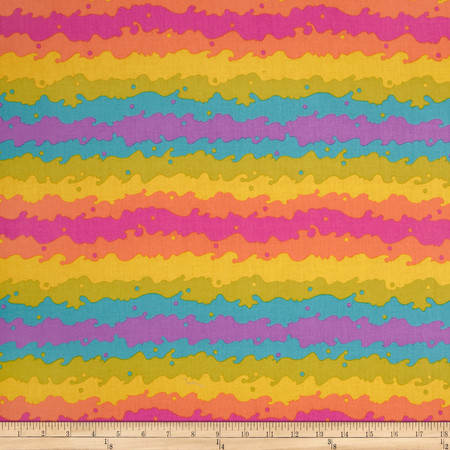 Clover Sunshine Kite Tail Fuchsia/Orange Fabric