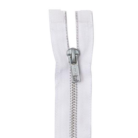 Coats & Clark Heavy Weight Aluminum Separating Zipper 18'' White
