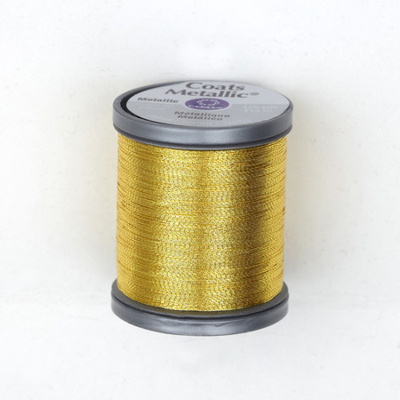 Coats & Clark Metallic Embroidery Thread 125 Yds. Bright Gold