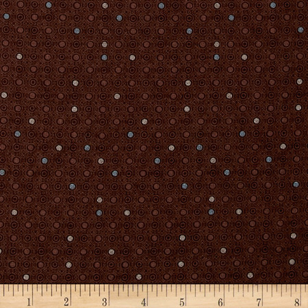 Coffee House Small Dot Brown Fabric By The Yard