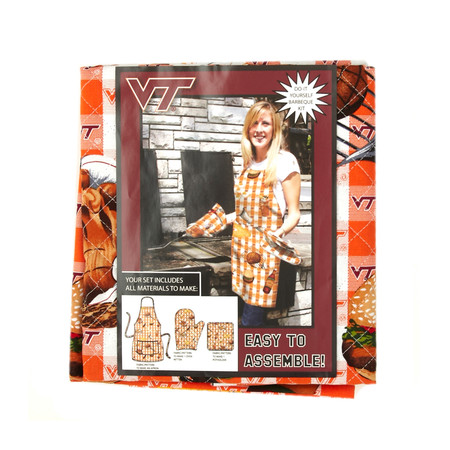 Collegiate BBQ Apron/Mit Virginia Tech University
