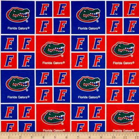 Collegiate Cotton Broadcloth University of Florida Gators Fabric By The Yard