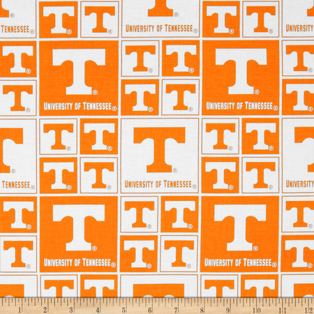 Collegiate Cotton Broadcloth University of Tennessee Fabric By The Yard