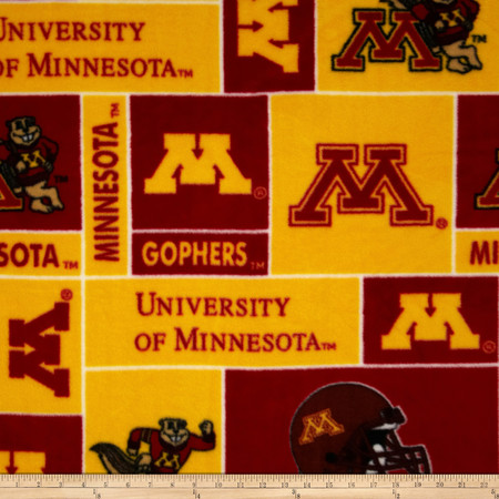 Collegiate Fleece University of Minnesota Fabric By The Yard