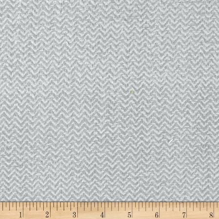 Color Catchers Yarn-Dye Flannel Chevron Light Gray Fabric