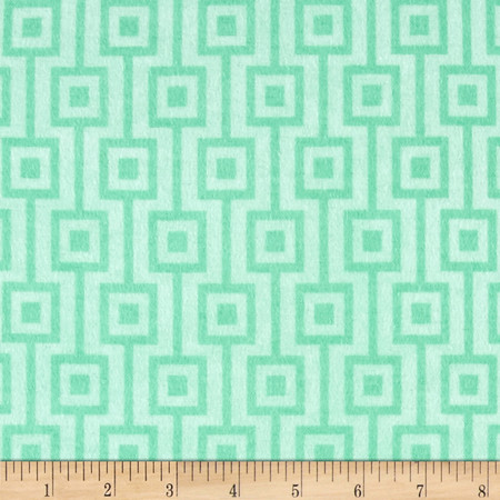 Comfy Flannel Geo Mint Fabric