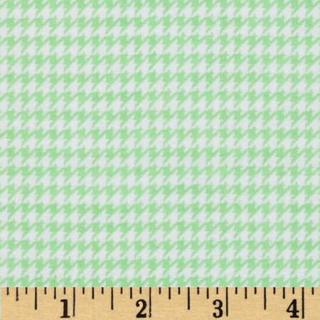 Comfy Flannel Houndstooth Green Fabric By The Yard