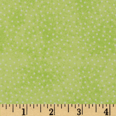 Comfy Flannel Micro Dot Lime Green Fabric By The Yard