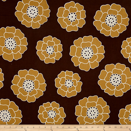 Contempo Palm Springs Big Bloom Brown Fabric
