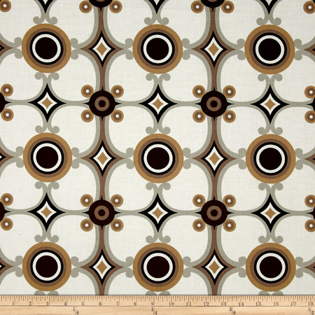 Contempo Palm Springs Medallion Cappuccino Fabric