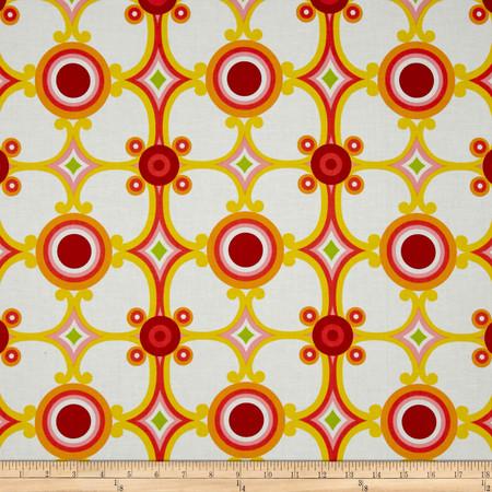 Contempo Palm Springs Medallion Orange Fabric