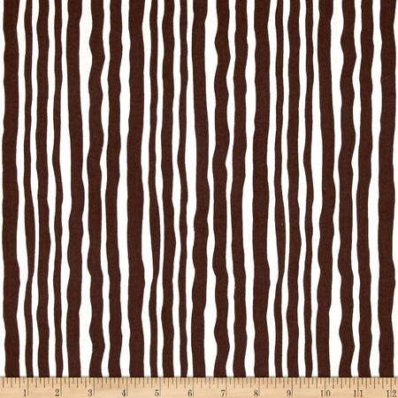 Contempo Palm Springs Palm Stripe Brown Fabric