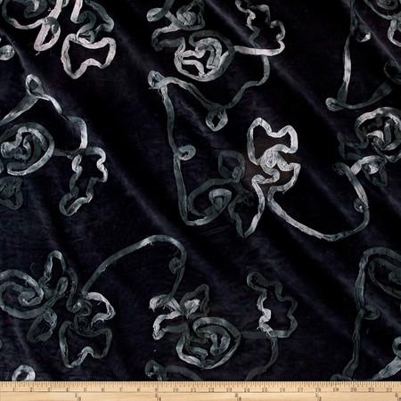 Corduroy Ribbon Black Fabric