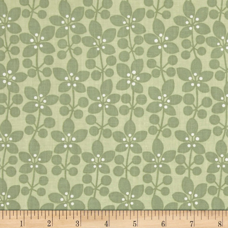 Cosmopolitan Plants Green Fabric