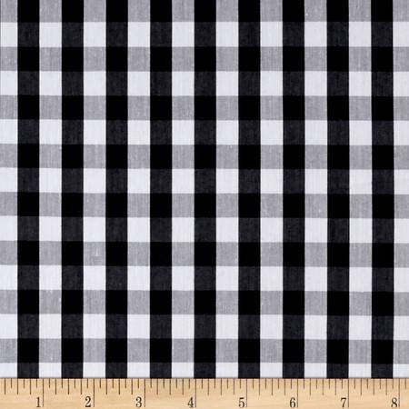 Cotton Plaid Black/White Fabric