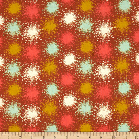Cotton + Steel August Dandelion Bronze Fabric By The Yard