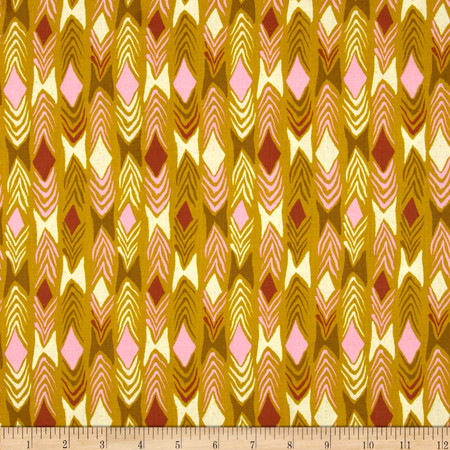 Cotton & Steel August Diamond Back Gold Fabric