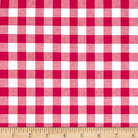 Cotton + Steel Checkers Yarn Dyed Woven 1/2'' Berry Fabric By The Yard