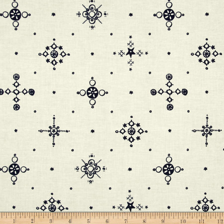 Cotton + Steel Clover Cafe Cup Indigo Fabric By The Yard
